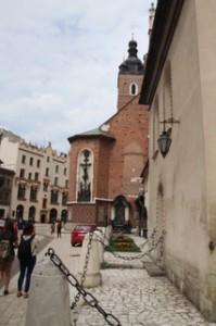 llegando a la basílica de Santa María