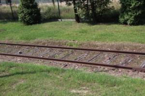 Vías que llevaban a la muerte, varios kilómetros antes de llegar a Auschwitz