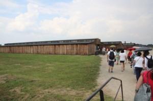 Uno de los muchos pabellones de Birjennau