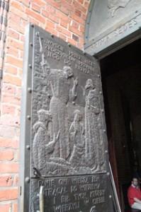 Detalle de la puerta Catedral de San Pedro y San Pablo