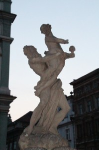 Fuente de Hades y el rapto de Perséfone