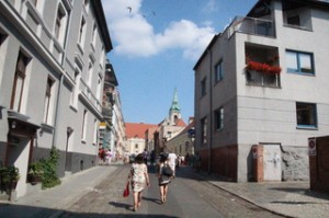 Una calle de Toruń