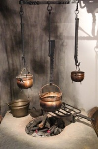 Así era la cocina. Suponemos que similar a la de otras casas acomodadas