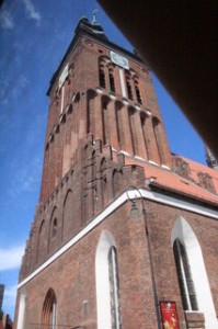 Iglesia gótica. Catherine (segunda mitad. XIV., XV., Reconstruido tras el incendio de 2006).