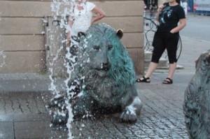 Fuente con leones