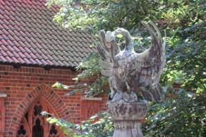 Escultura del tejado de la fuente