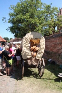 Transporte de hogazas de pan