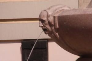 Detalle de la boca de la fuente