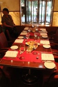 La mesa donde cenamos