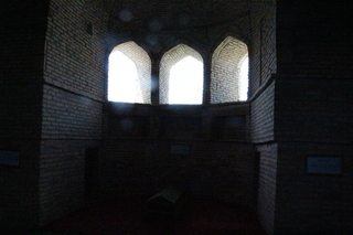 El interior del mausoleo