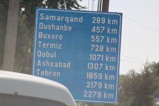 A Samarcanda 289 km