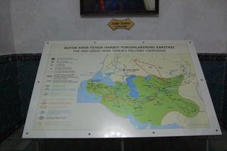 Mapa del imperio que llegó a conquistar.
