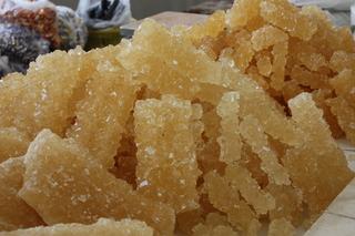 Cristales de azúcar sin refinar