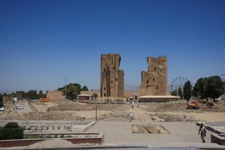 Shakhrisabz. palacio de Ak-Sarai, palacio de verano de Tamerlán