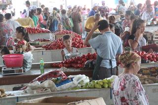 Zona de verduras. ¡Qué hermosos tomates!
