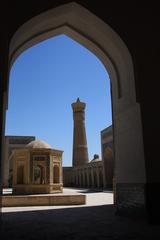 Dentro de la mezquita Poi Kalon