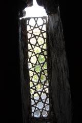 Celosia en la escalera de subida al tejado
