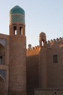 Detalle de la portada de la madraza de Muhammad Amin Jan