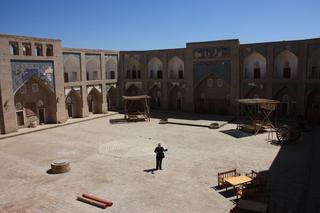 La vista desde la ventana de una habiación de la Interior de la madraza alla Kuli Kan