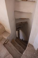 Escalera que conduce a las habitaciones de los estudiantes