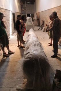 Una columna en restauración