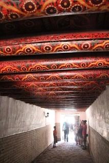 Detalle del techo del pasillo