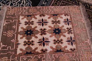 Una alfombra hecha con esos elementos, ya terminada