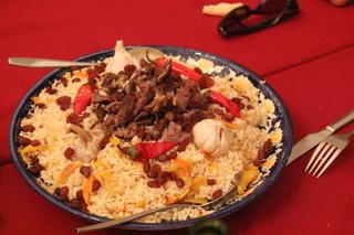 Arroz plov: arroz y cordero