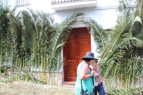 Casas decoradas para el Corpus Christi (El Gastor)