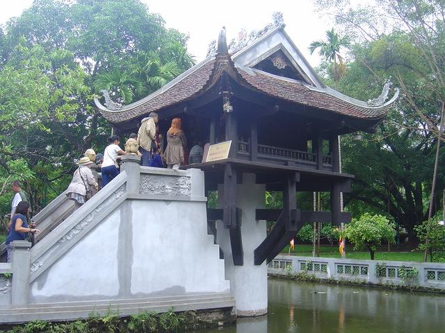 La pagoda de un solo pilar