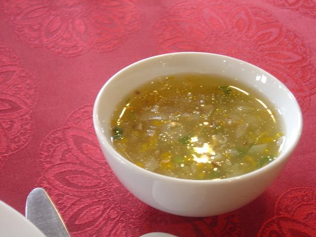 Sopa. No recuerdo más. No sé qué tipo de sopa era.