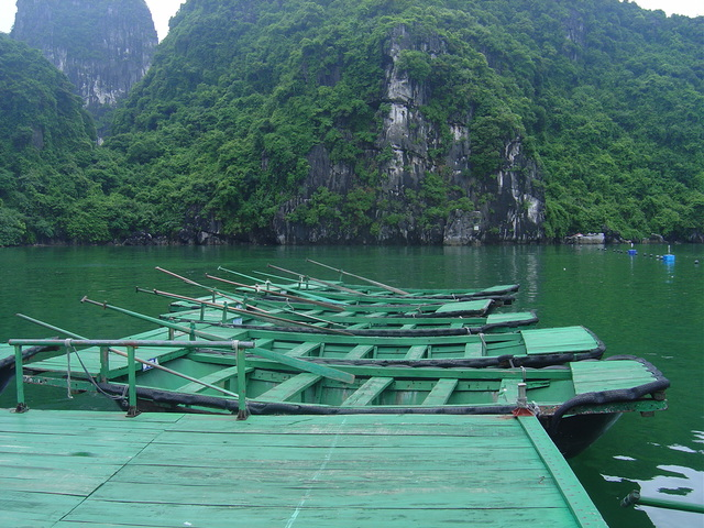 Las barcas de bambú