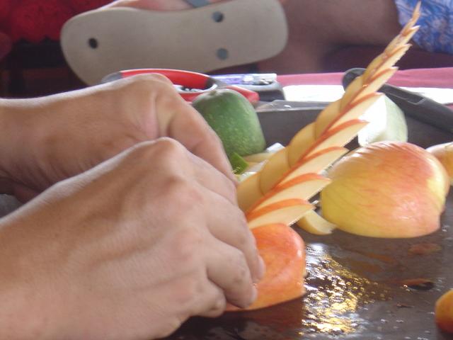 Este fue el resultado final de la preparación de la manzana.