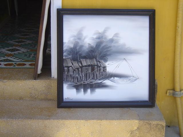 Arte en las tiendas de Hoi An