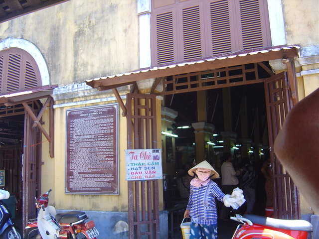 Entrada al mercado.