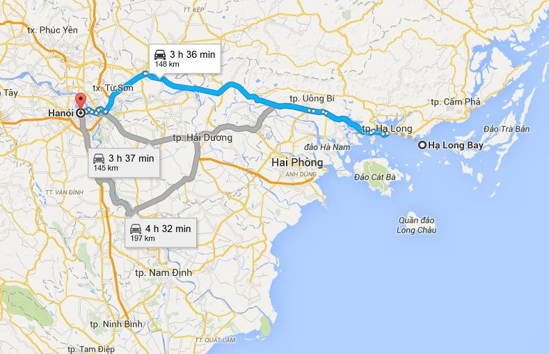 Ruta de acuerdo cvon Google Maps