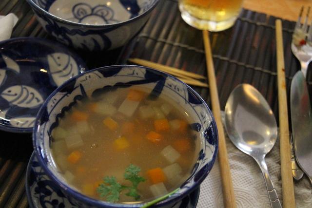 Sopa de hortalizas.