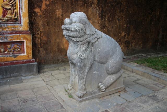 León guardián.