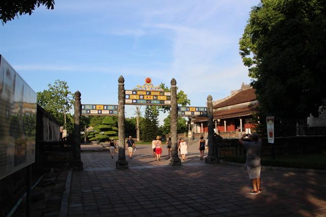 Entrada al palacio Long An. Ciudad Imperial. Hue. Vietnam.