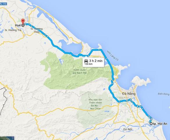 Hoi An al sur, Da nag en el centro y Hué al norte