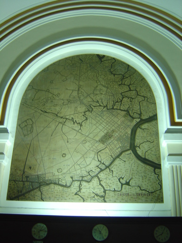 Mapa con la líneas telegráficas.