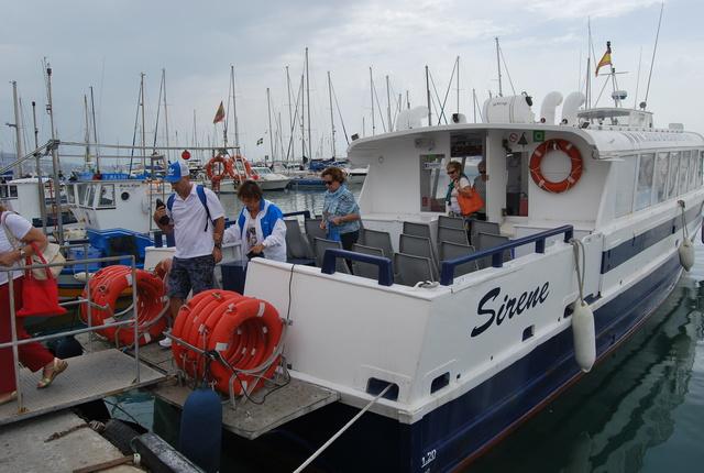 Nuestro barco era el Sirene.