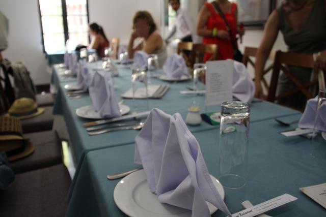 Detalle de nuestra mesa.