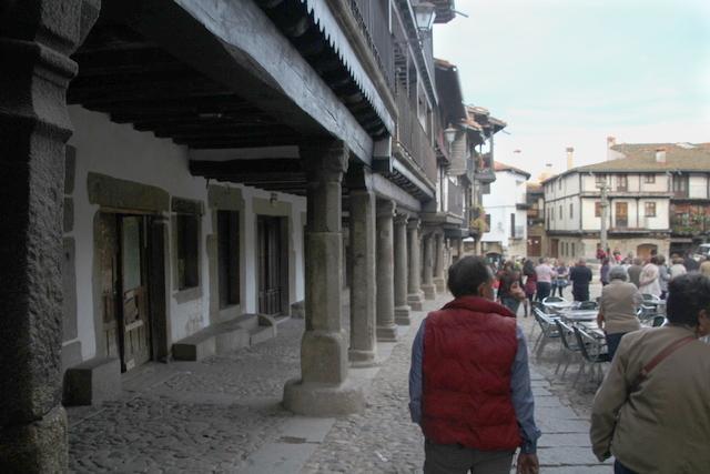 Soportales de la plaza mayor de La Alberca.