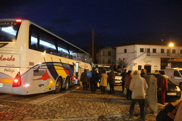 Autobús que nos llevó a Mogarraz.