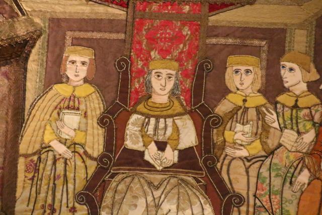 Detalle de un tapiz en el Parador.