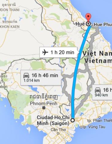 Viaje de Hue a Saigón