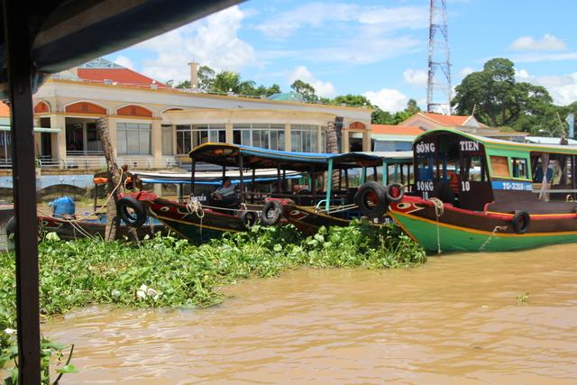 Barcos similares al nuestro. Observen la vegetación en la orilla.