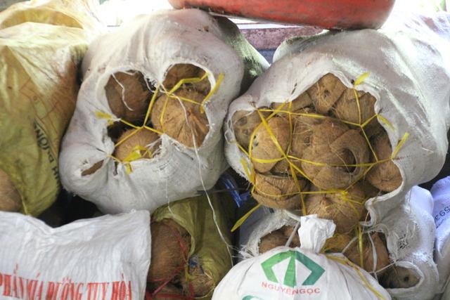 Sacos de cocos.