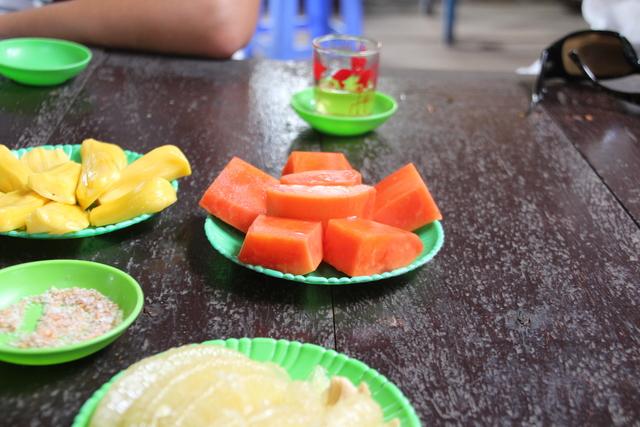 Degustación de frutas.